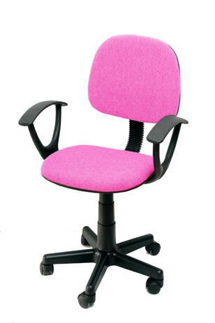 Καρέκλα Γραφείου με Μπράτσα Velco Κ08635-5, Ροζ