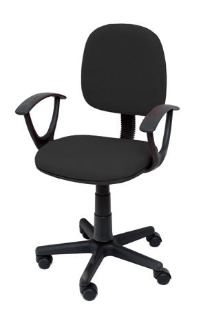Καρέκλα Γραφείου με Μπράτσα Velco Κ04767-1, Μαύρη