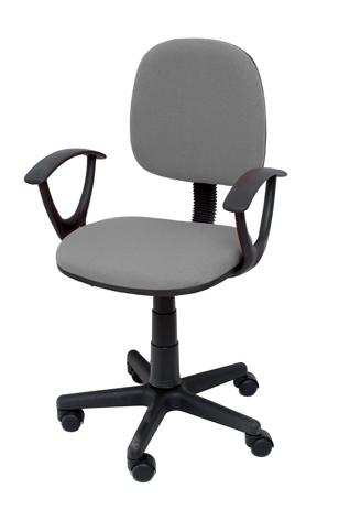 Καρέκλα Γραφείου με Μπράτσα Velco Κ04767-3, Γκρι