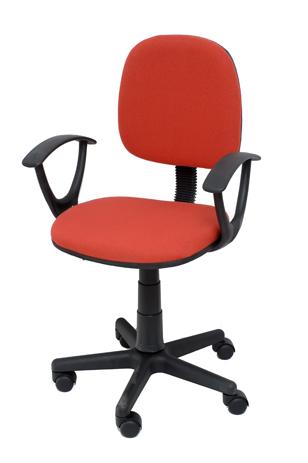 Καρέκλα Γραφείου με Μπράτσα Velco Κ04767-4, Κόκκινη