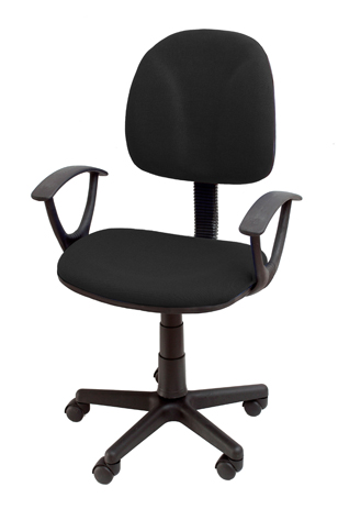 Καρέκλα Γραφείου με Μπράτσα Velco K08642-1, Μαύρη