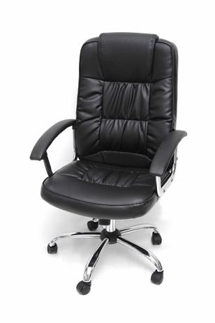 Καρέκλα Διευθυντική Velco 66-18696-1, Μαύρη