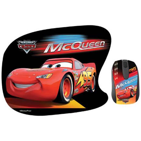 """Σετ Mini Οπτικό Ποντίκι & Mousepad """"Cars"""" Disney DSY TP1001 hlektrikes syskeyes texnologia perifereiaka ypologiston pontikia"""
