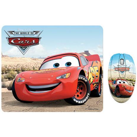 """Σετ Mini Οπτικό Ποντίκι & Mousepad """"Cars"""" Disney DSY TP1002 hlektrikes syskeyes texnologia perifereiaka ypologiston pontikia"""