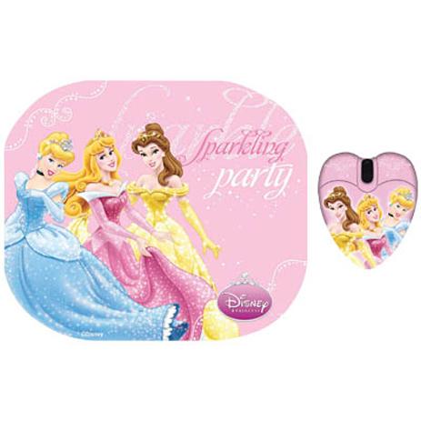 """Σετ Mini Ποντίκι & Mousepad """"Princess"""" Disney DSY TP2003 hlektrikes syskeyes texnologia perifereiaka ypologiston pontikia"""