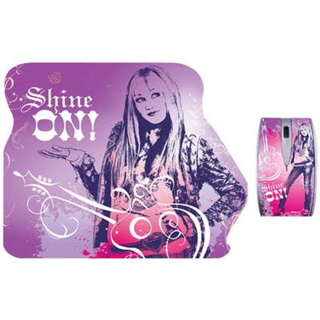 """Σετ Mini Οπτικό Ποντίκι & Mousepad """"Hannah Montana"""" Disney DSY TP5001 hlektrikes syskeyes texnologia perifereiaka ypologiston pontikia"""