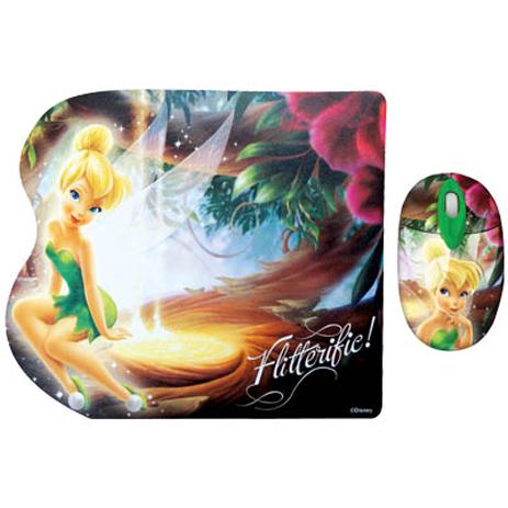 """Σετ Mini Οπτικό Ποντίκι & Mousepad """"Fairies"""" Disney DSY TP7001 hlektrikes syskeyes texnologia perifereiaka ypologiston pontikia"""
