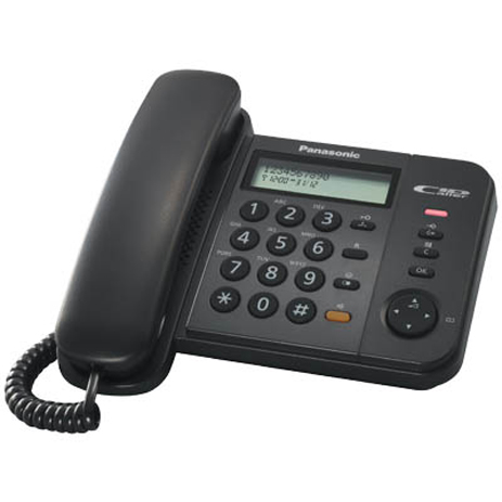 Σταθερό Τηλέφωνο Panasonic KX-TS580EX2B, Μαύρο hlektrikes syskeyes texnologia stauerh thlefonia thlefona