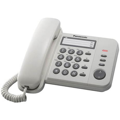 Σταθερό Τηλέφωνο Panasonic KX-TS520EX2W, Λευκό hlektrikes syskeyes texnologia stauerh thlefonia thlefona