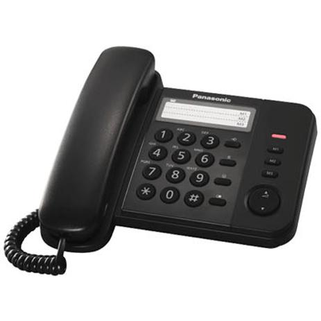 Σταθερό Τηλέφωνο Panasonic KX-TS520EX2B, Μαύρο