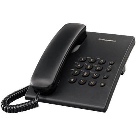 Σταθερό Τηλέφωνο Panasonic KX-TS500EXB, Μαύρο hlektrikes syskeyes texnologia stauerh thlefonia thlefona