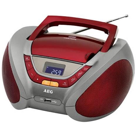 Φορητό Ραδιο-CD/ MP3 player AEG SR 4358, Κόκκινο hlektrikes syskeyes texnologia eikona hxos radiocdhi fi