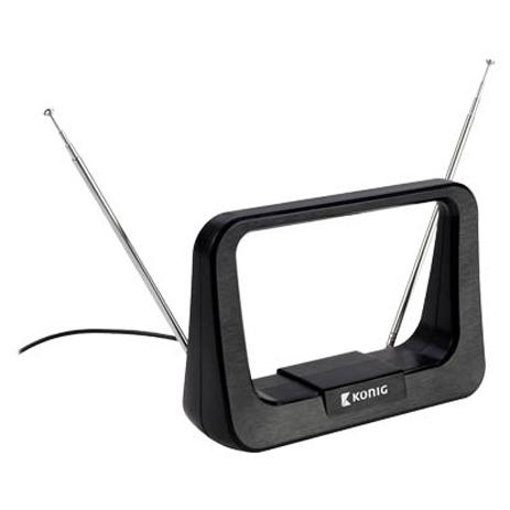 Εσωτερική κεραία DVB-T με ενσωματωμένο ενισχυτή Konig ANT 116-KN 5-7dB hlektrikes syskeyes texnologia eikona hxos keraies