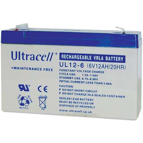 Μπαταρία μολύβδου Ultracell 6V 12Ah hlektrikes syskeyes texnologia hlektrologikos ejoplismos mpataries
