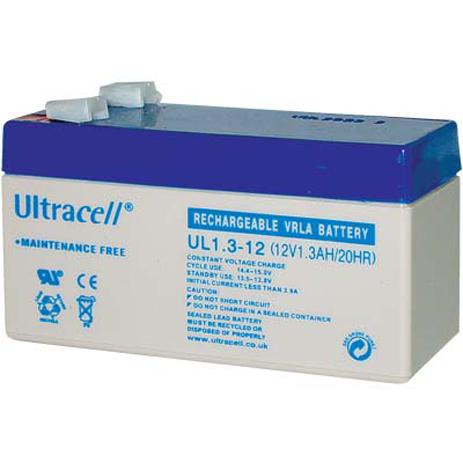 Μπαταρία μολύβδου Ultracell 12V 1.3Ah hlektrikes syskeyes texnologia hlektrologikos ejoplismos mpataries