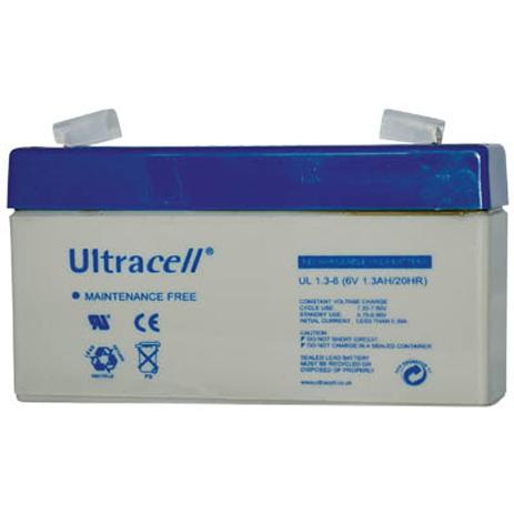 Μπαταρία μολύβδου Ultracell 6V 1.3Ah hlektrikes syskeyes texnologia hlektrologikos ejoplismos mpataries