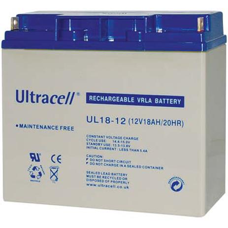 Μπαταρία μολύβδου Ultracell 12V 18Ah hlektrikes syskeyes texnologia hlektrologikos ejoplismos mpataries