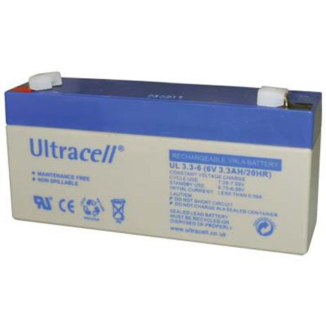 Μπαταρία μολύβδου Ultracell 6V 3.3Ah hlektrikes syskeyes texnologia hlektrologikos ejoplismos mpataries
