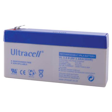 Μπαταρία μολύβδου Ultracell 8V 3.2Ah hlektrikes syskeyes texnologia hlektrologikos ejoplismos mpataries