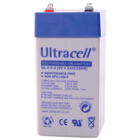 Μπαταρία μολύβδου Ultracell 4V 4.5Ah hlektrikes syskeyes texnologia hlektrologikos ejoplismos mpataries