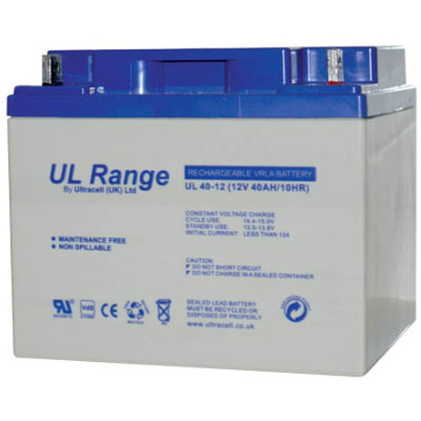 Μπαταρία μολύβδου Ultracell 12V 40Ah hlektrikes syskeyes texnologia hlektrologikos ejoplismos mpataries