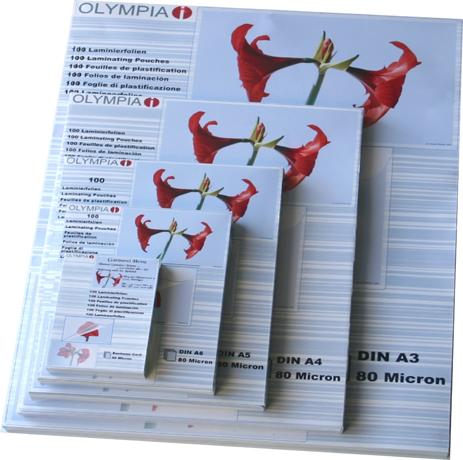 Φύλλα Πλαστικοποίησης Olympia 9181 (80 Microns 25xA4) bibliopoleio eidh grafeioy plastikopoihshuermokollhsh