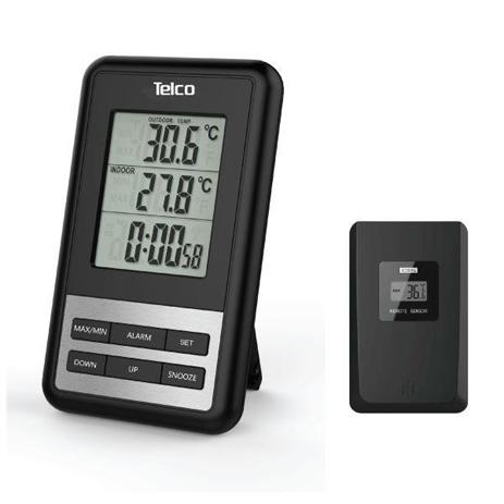 Μετεωρολογικός Σταθμός Telco Ε0103Τ, Μαύρος paixnidia hobby gadgets meteorologikoi staumoi