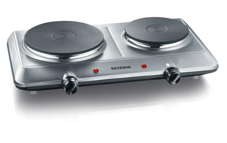 Ηλεκτρική Εστία Διπλή Severin DK 1014, Inox (2500w)
