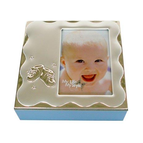 Παιδικό Κουτί-Κορνίζα Μεταλλικό 9cmx13cm, Γαλάζιο