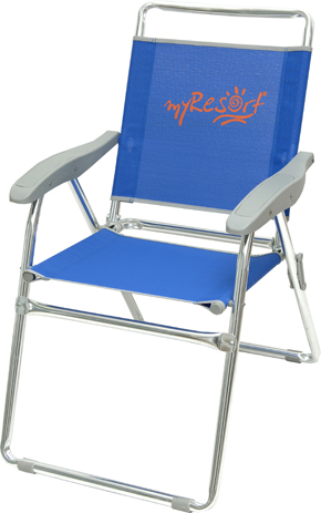 Myresort Καρέκλα Αλουμινίου Παραλίας & Κήπου Text, Χρώμα Μπλε (141-6814) khpos outdoor camping epoxiaka camping karekles paralias