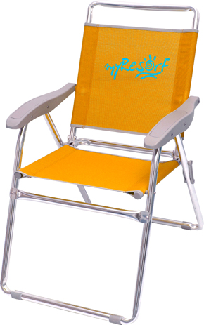 Myresort Καρέκλα Αλουμινίου Παραλίας & Κήπου Text, Χρώμα Πορτοκαλί (141-6814) khpos outdoor camping epoxiaka camping karekles paralias