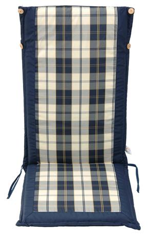 Velco Μαξιλάρι για Καρέκλα με Ψηλή Πλάτη 2 Όψεων, Χρώμα Μπλε Καρώ (35-10676) khpos outdoor camping khpos beranta ajesoyar