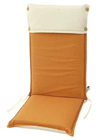Velco Μαξιλάρι για Καρέκλα με Ψηλή Πλάτη 2 Όψεων, Χρώμα Μπεζ Πορτοκαλί (35-12816 khpos outdoor camping khpos beranta ajesoyar