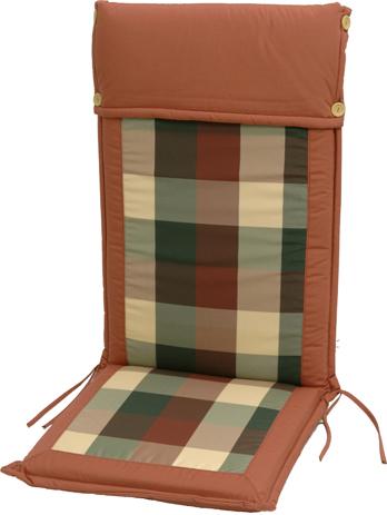 Velco Μαξιλάρι για Καρέκλα με Ψηλή Πλάτη 2 Όψεων, Χρώμα Καρώ (35-17453) khpos outdoor camping khpos beranta ajesoyar