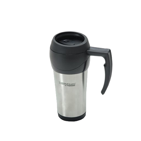 Thermos Ανοξείδωτη Κούπα-Θερμός Ταξιδιου 400ml, Χρώμα Ασημί (213-9689) khpos outdoor camping epoxiaka camping uermos