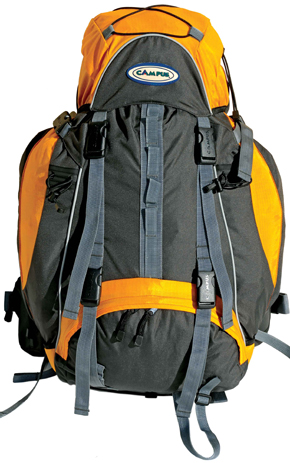 Campus Σακίδιο Πλάτης Summit 55, 55lt Orange (810-9984) paixnidia hobby eidh tajidioy sakidia plaths