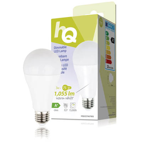 Λαμπτήρας LED HQ HQL E27 A67002 , 13W hlektrikes syskeyes texnologia hlektrologikos ejoplismos lampthres led