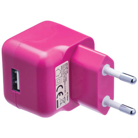 Universal Φορτιστής USB 2100mA Valueline VLMP 11955P , Ροζ ergaleia kataskeyes hlektrologikos ejoplismos trofodotika