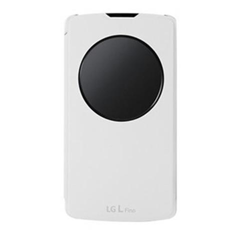 LG Original QuickCircle for LG L Fino D290n, White (CCF-550W) hlektrikes syskeyes texnologia kinhth thlefonia prostateytikes uhkes