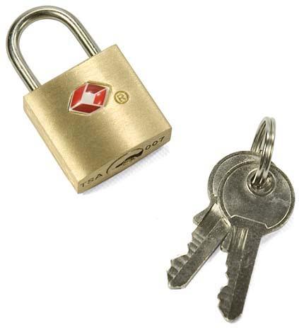 Λουκέτο με κλειδί TSA Benzi TSA001 Χρυσό paixnidia hobby eidh tajidioy ajesoyar tajidioy