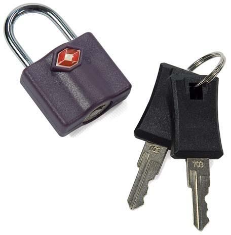 Λουκέτο με κλειδί TSA Benzi TSA002 Μωβ paixnidia hobby eidh tajidioy ajesoyar tajidioy