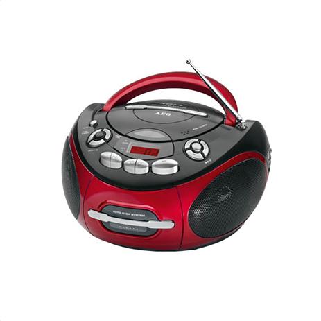 Φορητό Ραδιο-CD/ MP3 player AEG SR 4353 Κόκκινο hlektrikes syskeyes texnologia eikona hxos radiocdhi fi