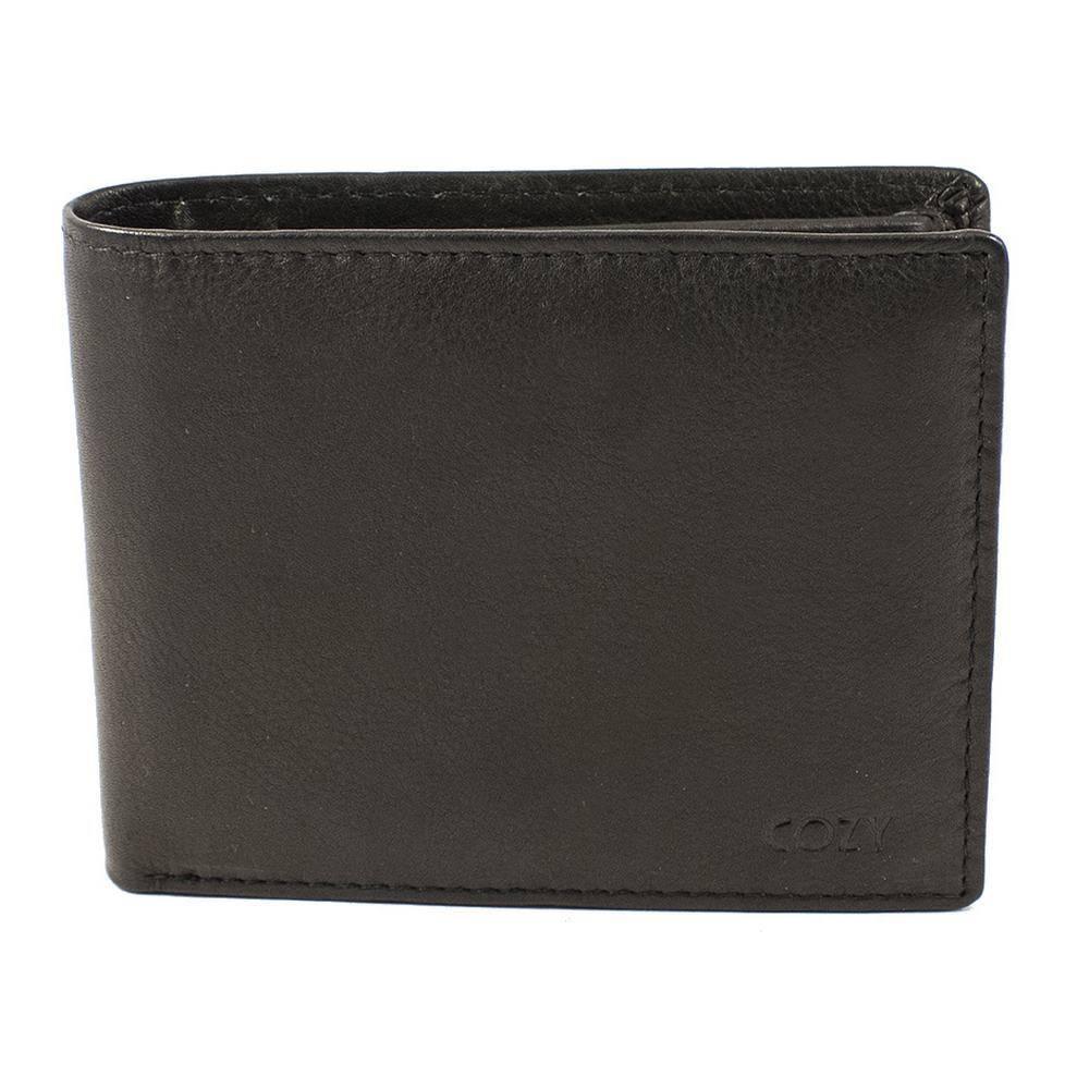 Cozy Ανδρικό Πορτοφόλι Μονόχρωμο 1116, Μαύρο