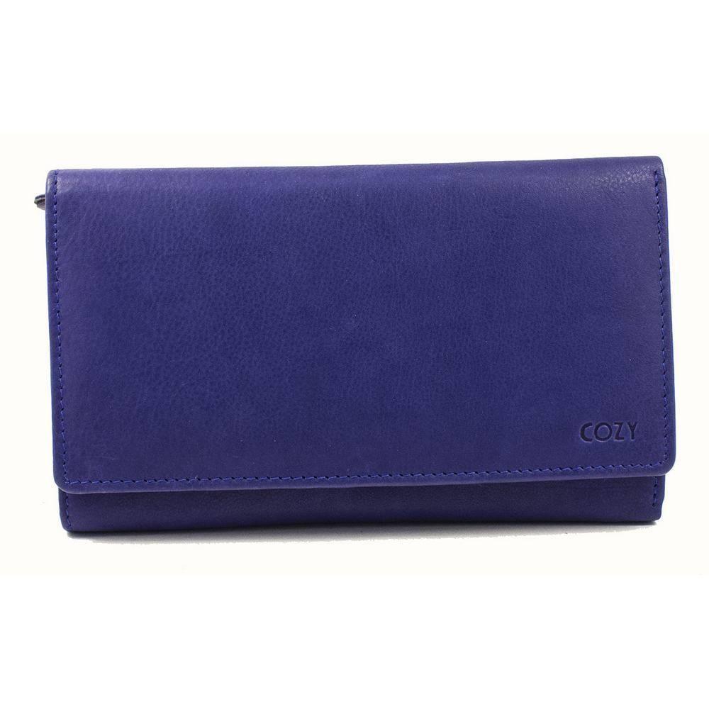 Cozy Γυναικείο Πορτοφόλι Μονόχρωμο 1839, Μπλε