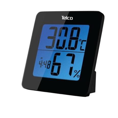 Ρολόι Θερμοβαρόμετρο Με Ένδειξη Υγρασίας Telco E0113H Μαύρο paixnidia hobby gadgets meteorologikoi staumoi