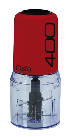 Πολυκόπτης με 2 Λεπιδες Osio OMC-2312W , Κόκκινο (400w)