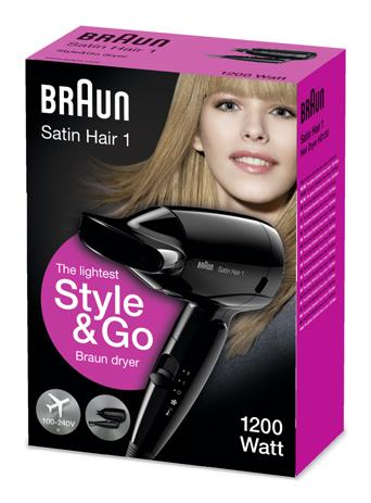 Braun, Σεσουάρ Ταξιδίου Satin Hair 1 HD130, 1200W