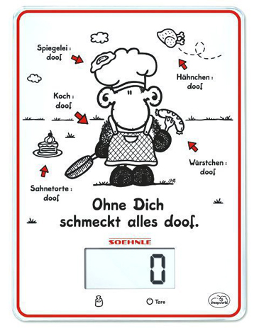 Soehnle, Ζυγαριά Κουζίνας Ψηφιακή SheepWorld 66196 Λευκή hlektrikes syskeyes texnologia oikiakes syskeyes zygaries koyzinas