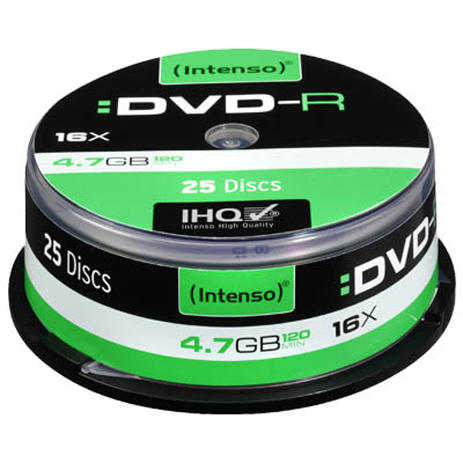 DVD-R Intenso 4331 , 4.7GB, 16x Speed, 25τμχ hlektrikes syskeyes texnologia perifereiaka ypologiston optika