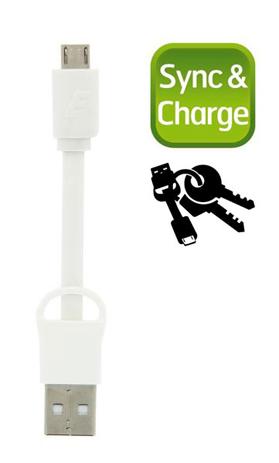 Καλώδιο Micro-USB Energizer POCKETMCWH2, Λευκό hlektrikes syskeyes texnologia perifereiaka ypologiston ajesoyar